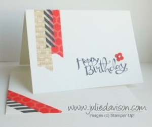 washi birthday banner