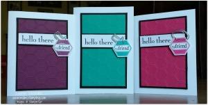 three cards full